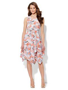 Tiered-Skirt Floral-Print Dress - New York   Company 49c9dfa23