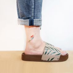 The Little Mermaid Tattoo Little Mermaid Tattoos, Small Mermaid Tattoo, The Little Mermaid, Beautiful Tattoos, Cool Tattoos, Ankle Tattoos For Women, Ankle Tattoo Small, Short Nail Designs, Disney Tattoos