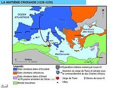 Octava cruzada. Los egipcios mamelucos conquistaron una serie de territorios cristianos .El rey de Francia Luis IX (San Luis), retomó entonces el espíritu de las cruzadas