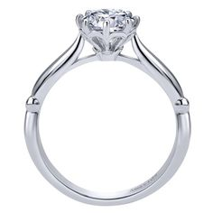 18k White Gold Solitaire Engagement Ring | Gabriel & Co NY