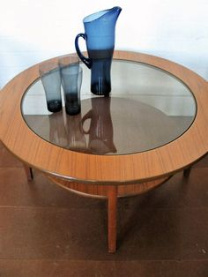 1960's 70s Vintage Retro Round glass top Coffee Table not g plan