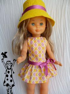 Sewing Doll Clothes, Sewing Dolls, Girl Doll Clothes, Girl Dolls, Ropa American Girl, American Girl Clothes, Vestidos Nancy, Nancy Doll, Bobe