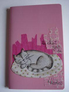 Aquarelle sur papier torchon et collage Petit carnet à découvrir sur http://marie-pia.alittlemarket.com