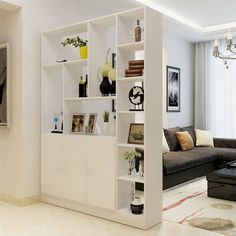 60 Favorite Studio Apartment Storage Decor Ideas And Remodel Living Room Partition Design, Room Partition Designs, Living Room Divider, Home Living Room, Living Room Designs, Living Room Decor, Ikea Room Divider, Studio Apartment Storage, Studio Apartment Partition