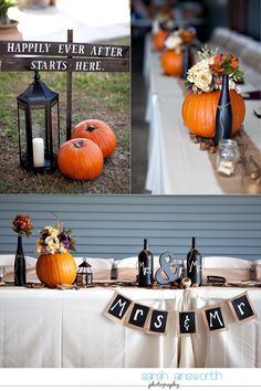 This entire wedding is so adorable. Lots of DIY ideas here. Autumn vintage winery wedding