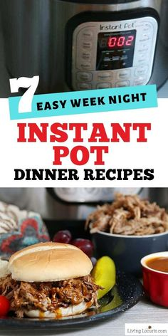 When you need a week of quick and easy dinner recipes these 7 Instant Pot dinners are the perfect weekly meal plan. Soup chicken pork or turkey dinners. Chicken Tetrazzini Recipes, Garlic Chicken Recipes, Night Dinner Recipes, Instant Pot Dinner Recipes, Sweet And Spicy Chicken, Easy Pressure Cooker Recipes, Fun Easy Recipes, Delicious Recipes, Yummy Food