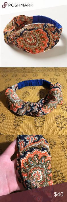 Anthropologie Beaded Trondheim Turban Headband Beautiful stretchy headband from anthropologie! Fully beaded and perfectly intact, this piece is sure to add some sparkle and beauty to your head! Twisting fabric creates a beautiful turban look while elastic band on the back keeps it securely in place! Anthropologie Accessories Hair Accessories