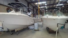 BoatTEST visited the Robalo factory in Georgia recently. Here is Robalo's finishing line.
