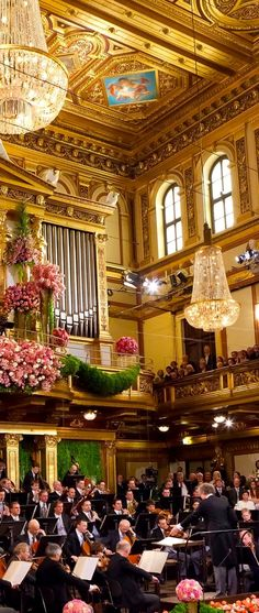 Founded in is an orchestra, regularly considered one of the finest in the world. The Vienna Philharmonic is based in the Musikverein in Vienna. Its members are selected from the orchestra of the Vienna State Opera. Austria, Budapest, Places To Travel, Places To See, Wachau Valley, Wiener Philharmoniker, Vienna Philharmonic, Vienna State Opera, Concert Hall