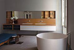 Agape expose ses magnifiques sanitaires dans de beaux appartements italiens créant des salles de bains qui font rêver….