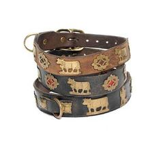 Swiss dog collars. I'd been looking for these for years, thinking they were French. Finally!
