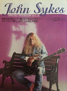 John Sykes Aug.1997 Young guitar magazine