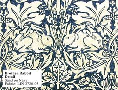 Historic Style - Brother Rabbit, by William Morris Fabric