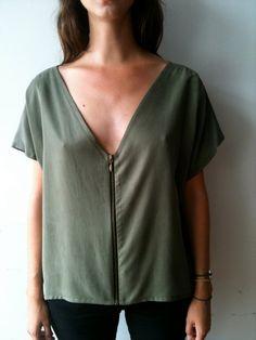 zip up t-shirt