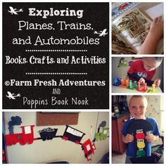 Stoplights, Steam Engines and Flying Machines Books and Activities #homeschool #poppinsbooknook #bookreview #crafts
