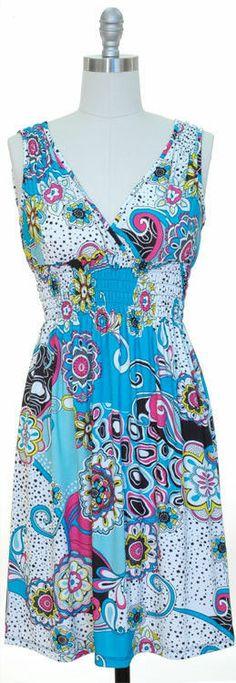 NWT Blue Fashionable Dress - Pretty Back  Small SUMMER BIDDING .01 Cent