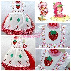 Strawberry Shortcake tutu dress- Strawberry Shortcake- Strawberry Shortcake Costume