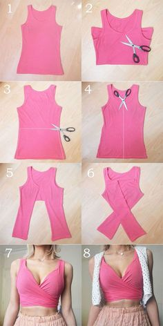 Crop Tops 816910819893804848 - These DIY tops are softer than the . - Crop Tops 816910819893804848 – These DIY tops are sweeter than the cutest summer dresses # DIY - Diy Crop Top, Diy Halter Top, Diy Kleidung, Refashioning, Cute Summer Dresses, Dress Summer, Summer Outfits, Clothing Hacks, Clothing Ideas