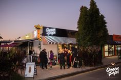Twilight falls as our guests mingle at our Media Launch. Queen of Pops concept store - Shop 4, 680 Sandgate Road, Clayfield QLD 4011 AUSTRALIA. Photo by Essence Images.