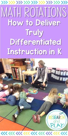 Take your math instruction to the next level and differentiate for all your kindergarten students. Learn how to use rotations to give hands-on, technology, collaboration, and groups a place in your math instruction! Differentiated Kindergarten, Kindergarten Math Activities, Differentiated Instruction, Preschool Math, Math Classroom, Fun Math, Teaching Math, Math Teacher, Math Math