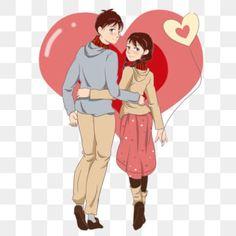 Hug Cartoon, Couple Cartoon, Valentines Day Couple, Happy Valentines Day, Background Banner, Background Patterns, Hug Illustration, Couple Hands, Pink Love