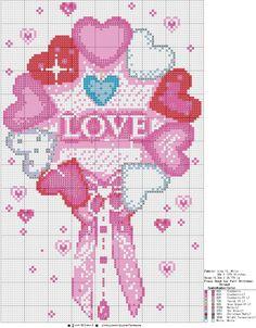 [십자수도안] LOVE : 네이버 블로그