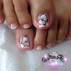 Pretty Toe Nails, Simple Toe Nails, Toe Nail Art, Feet Nails, Plaits Hairstyles, Nail Manicure
