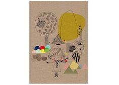 Prächtiges A4-Poster mit Neon-Akzenten 'Forêt'