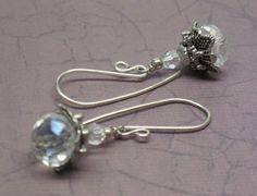 A Winter Ice Storm XI Swarovski Crystal Earrings | JewelryByLis - Jewelry on ArtFire
