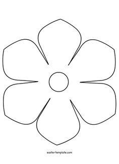 Free Paper Flower Templates, Felt Flower Template, Easter Templates, Paper Flower Patterns, Leaf Template, Templates Printable Free, Printable Paper, Large Paper Flowers, Paper Roses