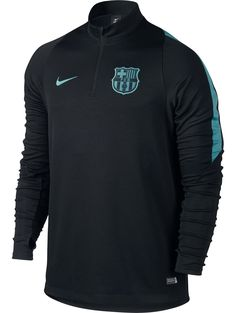 barcelona sweatshirt | MIDLAYER-drill-top-Barcelona-Nike-Training-Sweatshirt-Felpa-Black-2015 ...