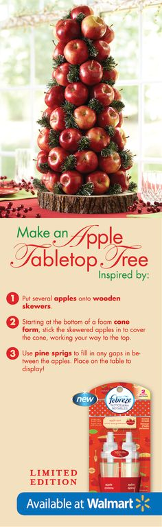 This is such a fun tabletop decoration for the holiday season! #FebrezeHoliday #ad