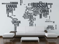 Wordcloud world map wall mural word clouds pinterest wall word cloud map wall mural gumiabroncs Images