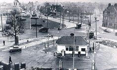 Chiswick Roundabout (pre-flyover) 1957 Vintage London, Old London, West London, London History, Local History, Old Pictures, Old Photos, Old Street, Greater London