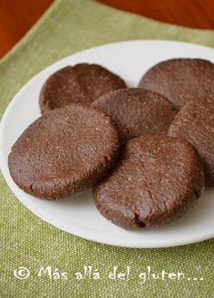 Más allá del gluten...: Galletas de Chocolate sin Hornear (Receta GFCFSF, Vegana, RAW)