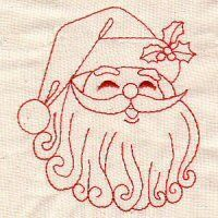 Free Redwork Hand Embroidery Designs   Redwork Christmas 15
