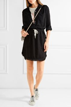 Splendid | Frayed voile dress | NET-A-PORTER.COM