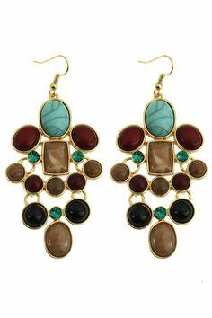 #ROMWE Pendant Earrings, Drop Earrings, Latest Street Fashion, Summer Essentials, Romwe, Fun Stuff, Turquoise, Jewels, My Style
