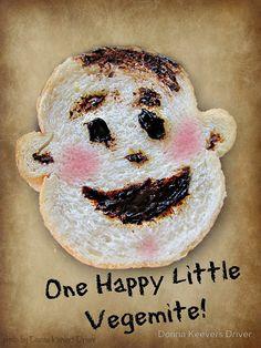"""One Happy Little Vegemite"" by Donna Keevers Driver Happy, Food, Art, Art Background, Kunst, Meals, Yemek, Eten, Art Education"