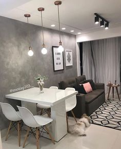 Home Decoration Living Room Small Apartment Interior, Condo Interior, Small Apartment Living, Small Living Rooms, Home Interior Design, Home And Living, Modern Living, Cute Apartment Decor, Narrow Rooms