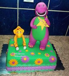 Elephant Birthday — Children's Birthday Cakes Barney Cake, Barney Party, Baker Man, Second Birthday Ideas, Elephant Birthday, Cartoon Tv, Cool Baby Stuff, First Birthdays, Cake Decorating