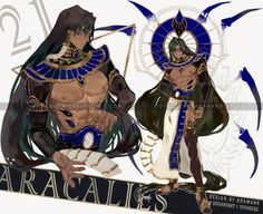 Aracalies Auction[closed] by Krawark on DeviantArt Male Character, Fantasy Character Design, Character Creation, Character Design Inspiration, Character Concept, Anime Egyptian, Egyptian Art, Black Anime Characters, Fantasy Characters