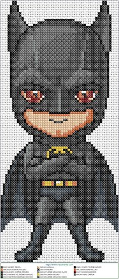 Batman Baby en punto de cruz.  Cross stitch pattern
