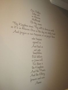 Lord's Prayer Large Vinyl Cross Wall Decor by krazydaizy on Etsy, $68.00. Love this for the stairway wall. Be the main center piece and decorate with crosses along the wall. ( be best to do on the wall without the railing.)