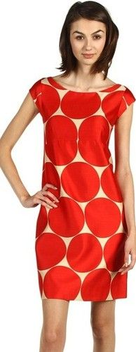 Kate Spade New York Maya Dress Beige Lacquer Red Deborah Dot Size 4 | eBay