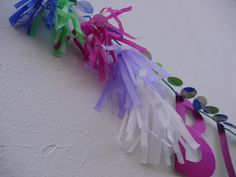 Garland, letter banner or tassels? Why choose! Get in touch about creating your perfect decorations. Close-up of custom piece featuring Ophelia print garland and matching tassels and letter banner. Handmade paper decorations by Paper Street Dolls Check out our store - paperstreetdolls.etsy.com