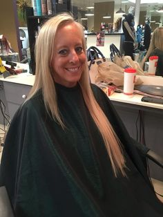 Thin Fine hair becomes a fuller, thicker, and longer head of lush locks with the application of hot fusion Cinderella Hair extensions.