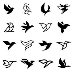 Bird symbol exploration created by For the chance to be featured post your work with the hashtag. Bird Design, Web Design, Flying Bird Silhouette, Logo Sketches, Logo Process, Bird Graphic, Logo Design Tutorial, Bird Logos, Gifts For Photographers