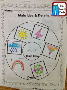 Last week, we spent a lot of time on Main Idea. My class needed some practice with sorting and classifying before I could begin to introduce the main idea. So I began by placing several objects in a b Anchor Charts First Grade, Kindergarten Anchor Charts, Kindergarten Language Arts, Reading Anchor Charts, Kindergarten Writing, Kindergarten Blogs, Journeys Kindergarten, Main Idea Activities, First Grade Activities