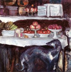 Still Life with Greyhound / Pierre Bonnard - circa 1923